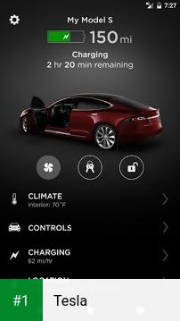 Tesla app screenshot 1