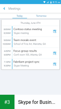 Skype for Business for Android app screenshot 3