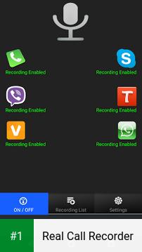 Real Call Recorder app screenshot 1