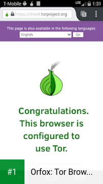 Orfox: Tor Browser for Android app screenshot 1