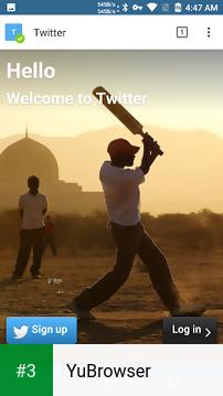 YuBrowser app screenshot 3