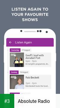 Absolute Radio app screenshot 3