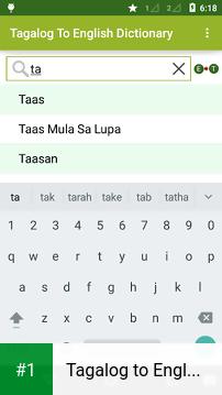 Tagalog to English Dictionary app screenshot 1