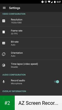 AZ Screen Recorder - No Root apk screenshot 2