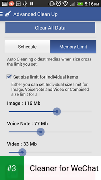 Cleaner for WeChat app screenshot 3