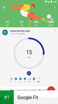 Google Fit app screenshot 1