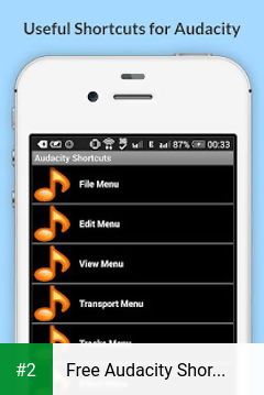 Free Audacity Shortcuts apk screenshot 2