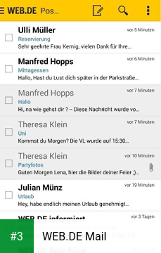WEB.DE Mail app screenshot 3