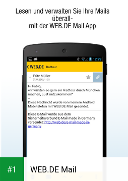 WEB.DE Mail app screenshot 1