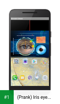 (Prank) Iris eye scanner app screenshot 1