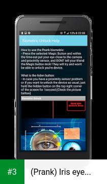 (Prank) Iris eye scanner app screenshot 3