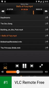 VLC Remote Free app screenshot 1