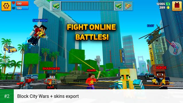Block City Wars + skins export apk screenshot 2