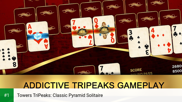Towers TriPeaks: Classic Pyramid Solitaire app screenshot 1