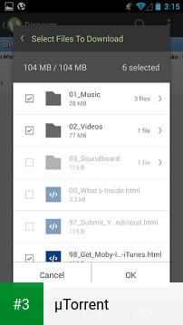 µTorrent app screenshot 3