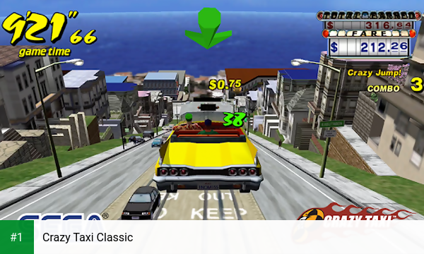 Crazy Taxi Classic app screenshot 1