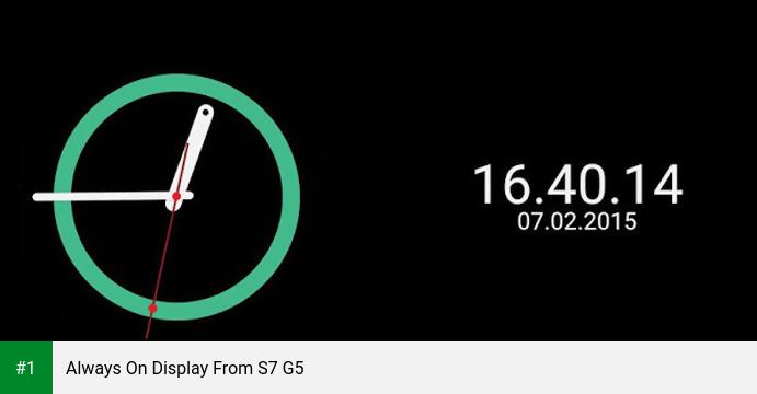 Always On Display From S7 G5 app screenshot 1