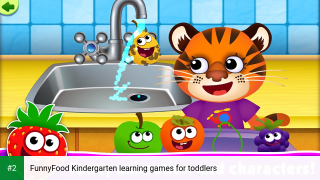FunnyFood Kindergarten learning games for toddlers apk screenshot 2