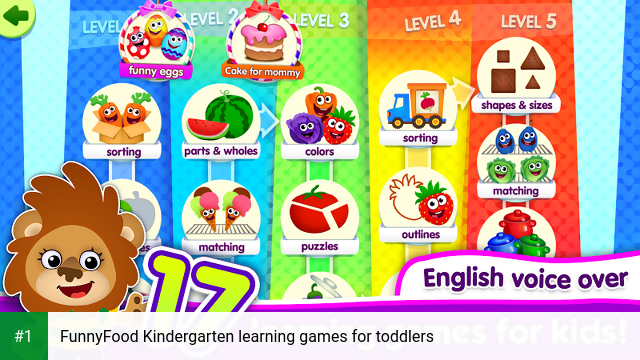 FunnyFood Kindergarten learning games for toddlers app screenshot 1