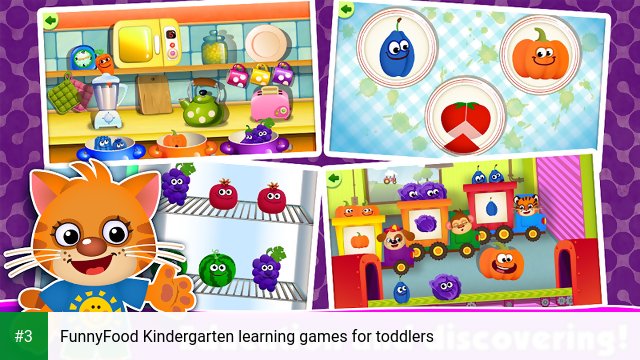 FunnyFood Kindergarten learning games for toddlers app screenshot 3