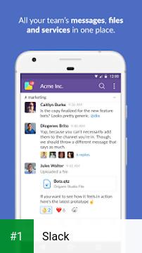 Slack app screenshot 1
