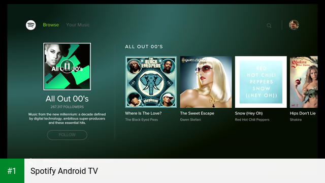 Spotify Android TV app screenshot 1
