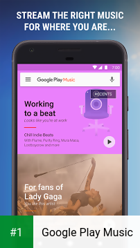 Google Play Music app screenshot 1