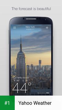 Yahoo Weather app screenshot 1