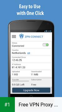 Free VPN Proxy - ZPN app screenshot 1
