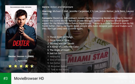 MovieBrowser HD app screenshot 3
