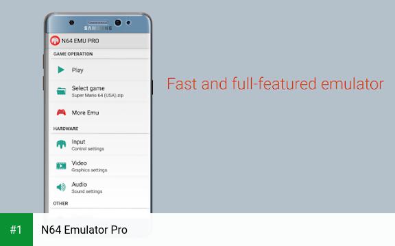 N64 Emulator Pro app screenshot 1