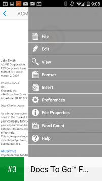 Docs To Go™ Free Office Suite app screenshot 3