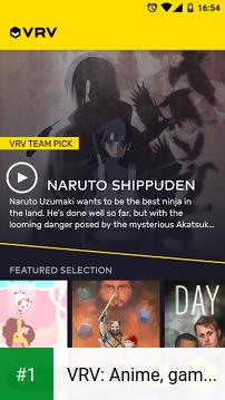VRV: Anime, game videos & more app screenshot 1