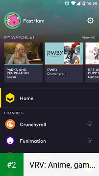 VRV: Anime, game videos & more apk screenshot 2