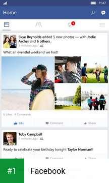 Facebook app screenshot 1