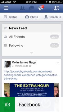 Facebook app screenshot 3