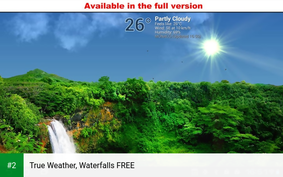 True Weather, Waterfalls FREE apk screenshot 2