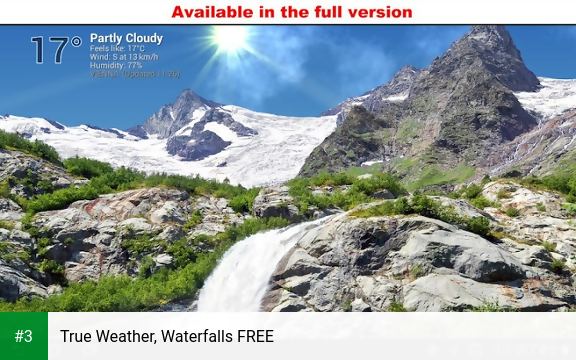 True Weather, Waterfalls FREE app screenshot 3