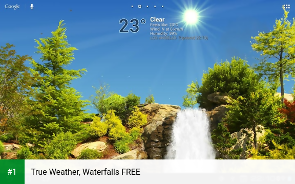 True Weather, Waterfalls FREE app screenshot 1