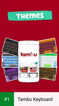 Tambu Keyboard app screenshot 1