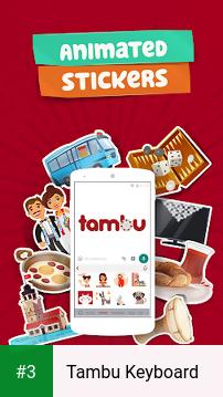 Tambu Keyboard app screenshot 3
