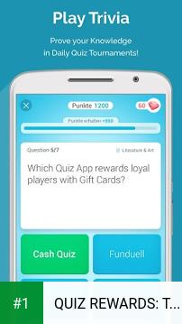 QUIZ REWARDS: Trivia Game, Free Gift Cards Voucher app screenshot 1