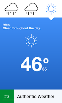 Authentic Weather app screenshot 3
