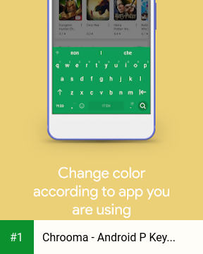 Chrooma - Android P Keyboard, Hydrogen, GIF,  Free app screenshot 1