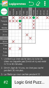 Logic Grid Puzzles in French apk screenshot 2