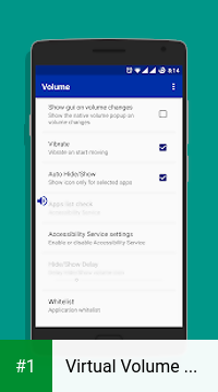 Virtual Volume Button app screenshot 1