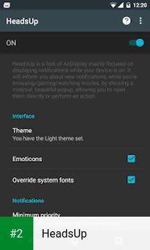 HeadsUp apk screenshot 2