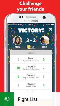 Fight List app screenshot 3