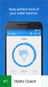 Hydro Coach app screenshot 1