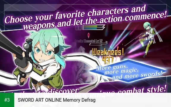 SWORD ART ONLINE Memory Defrag app screenshot 3